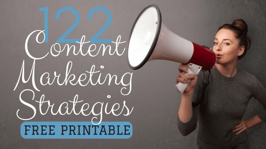 122 content marketing strategies