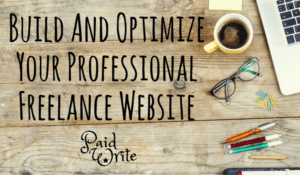Build a professional freelance writing website