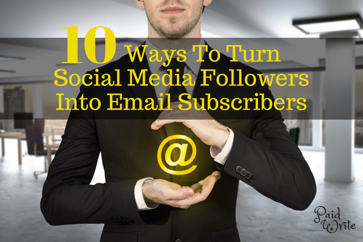 Use your social media reach to build your email subscriber list.