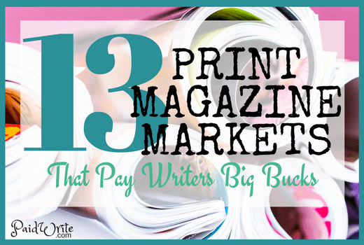 print magazine markets for freelance writers