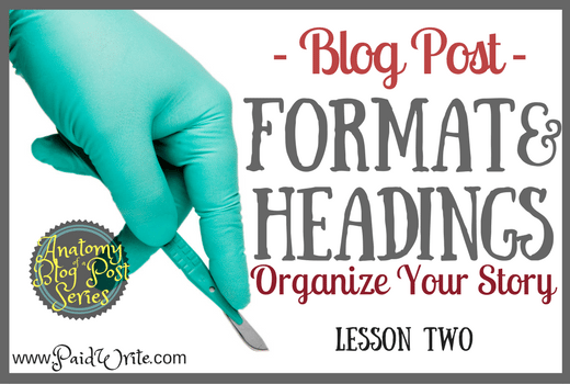 blog post format and headings
