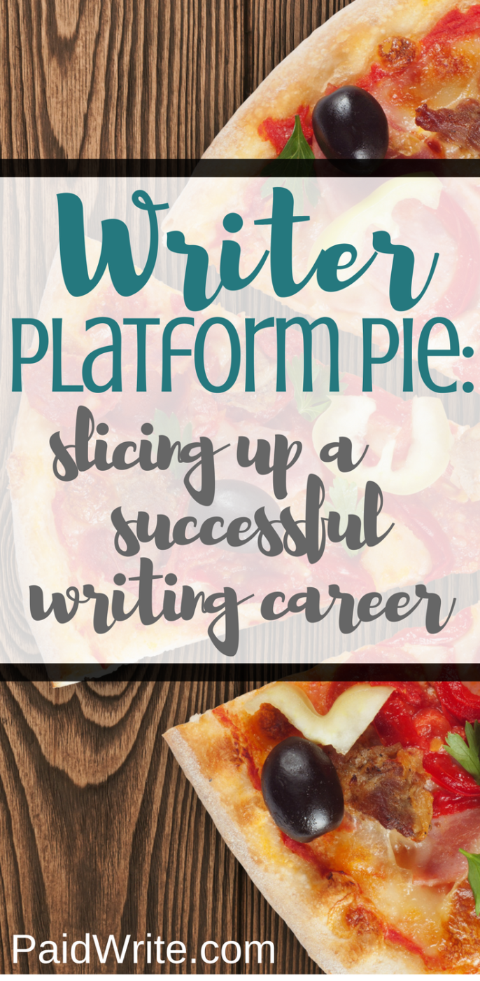 writer platform pie, slicing up a successful writing career