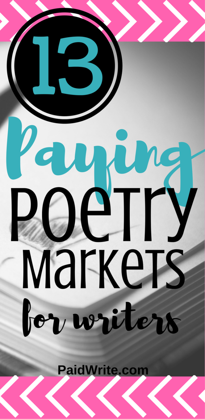 13 Paying Poetry markets for writers