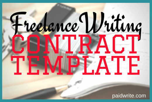 FREELANCE Writing Contract Template