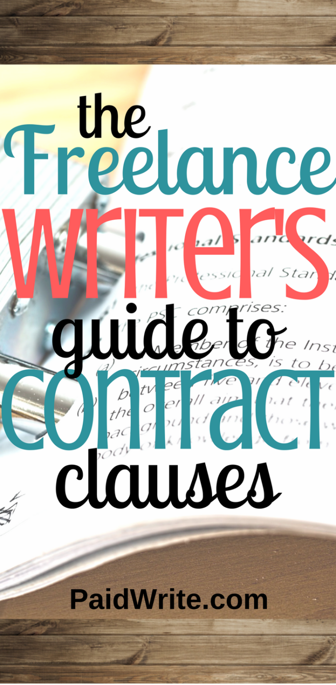 the freelance writer's guide to contract clauses