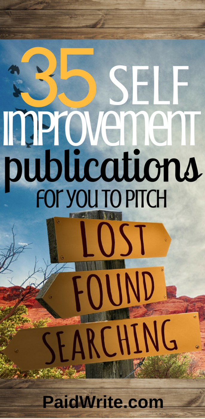 35 self-improvement publications for you to pitch