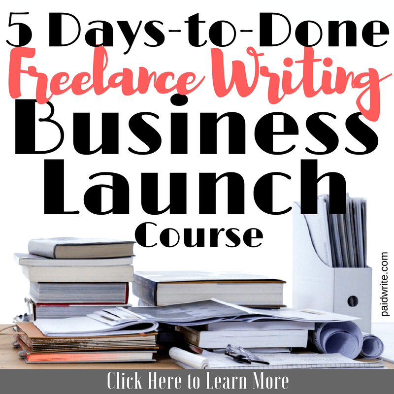 5-Day Freelance Writing Business Launch Course