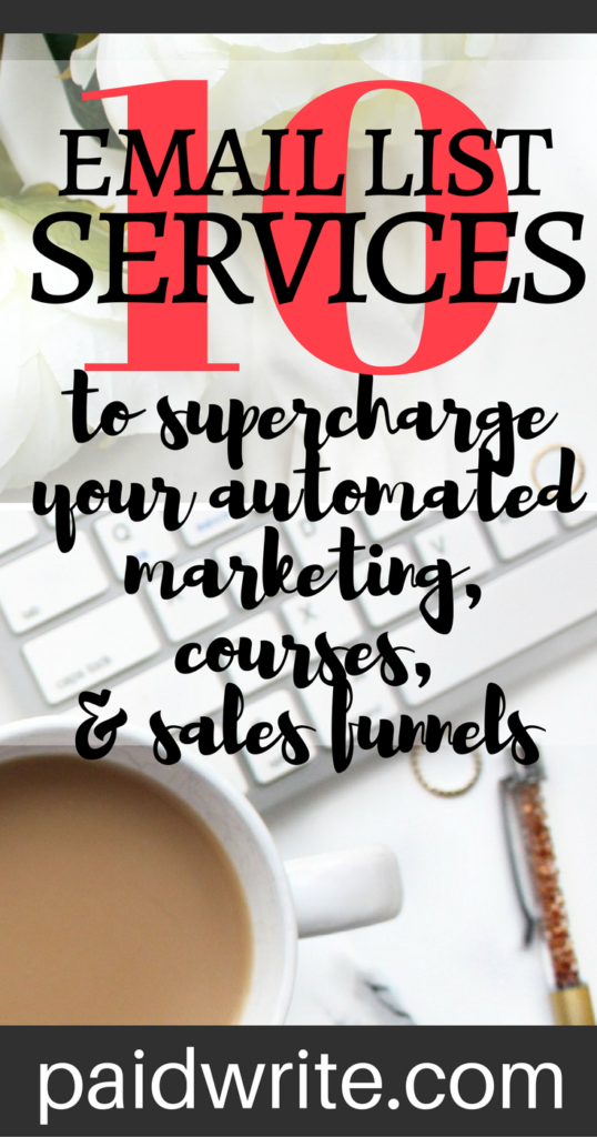 10 email list services that will supercharge your automated marketing, courses, and sales funnels