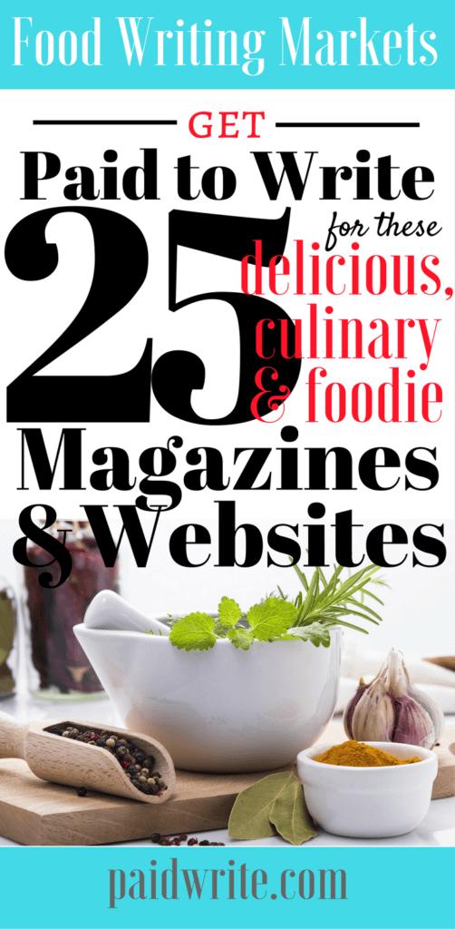 freelance food writing 25 paying markets