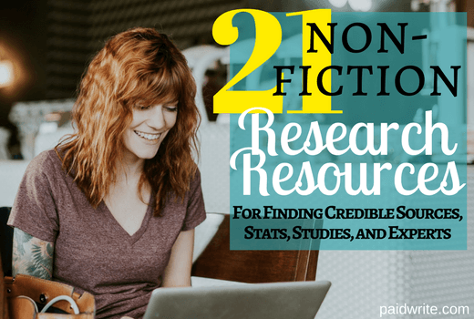 21 non-fiction research resources for finding credible sources, stats, studies, and experts