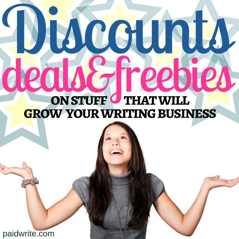 Discounts, Deals,& Freebies on stuff that will grow your writing career
