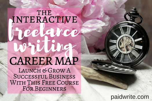 the interactive freelance writing career map free course for beginner freelance writers