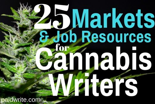 25 markets and job resources for cannabis writers