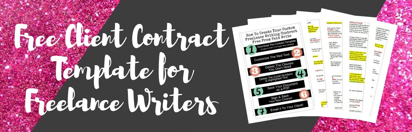 Freelance Writing Client Contract Template  Paidwrite