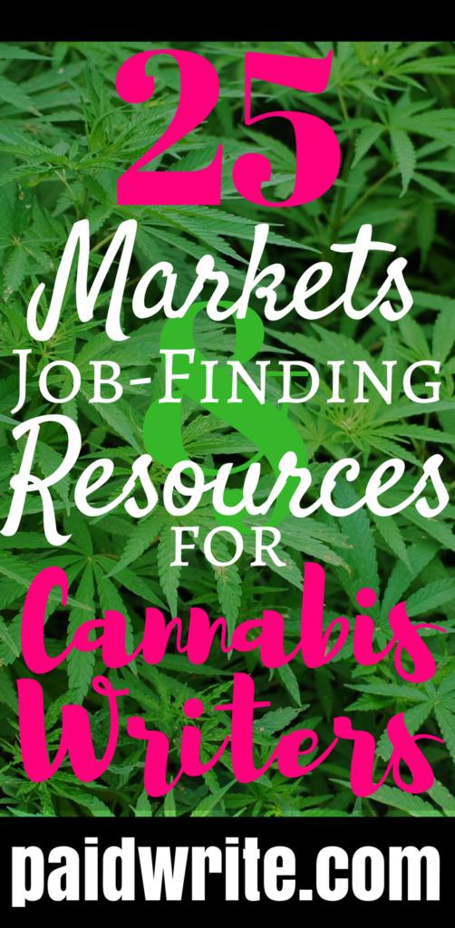 25 cannabis writing markets and job resources paidwrite